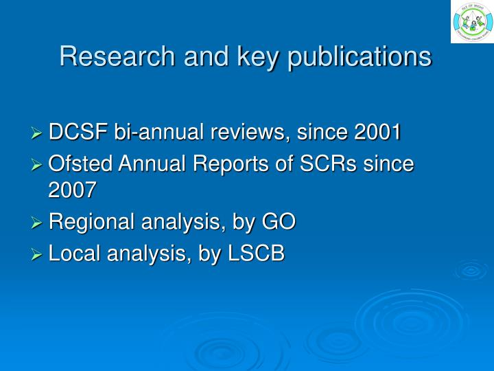Research and key publications