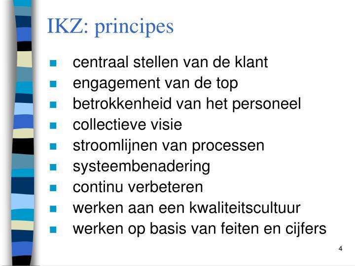 IKZ: principes