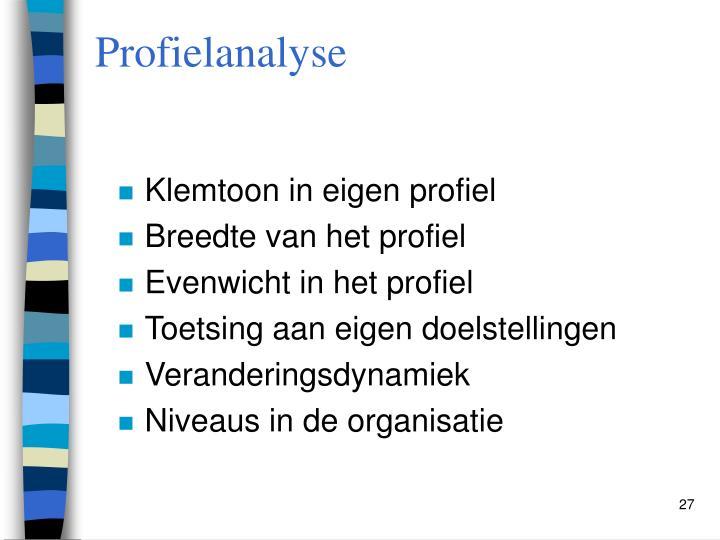Profielanalyse