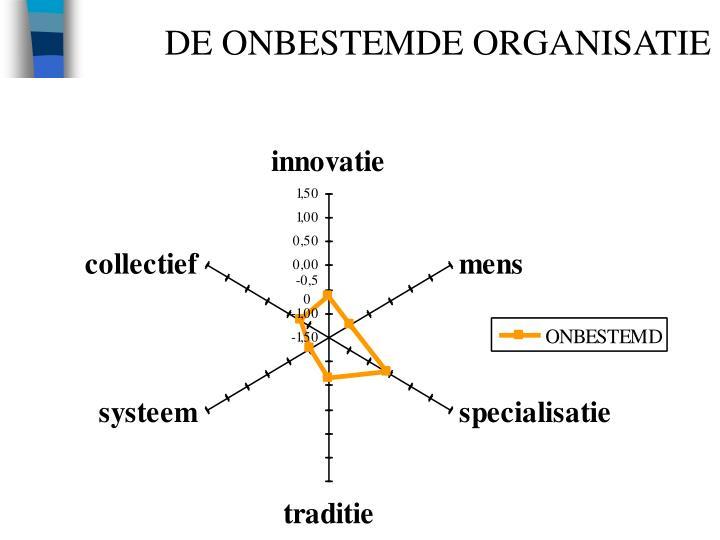 DE ONBESTEMDE ORGANISATIE