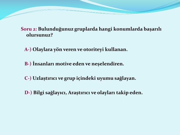 Soru 2: