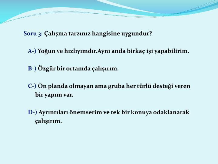 Soru 3: