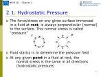 2 1 hydrostatic pressure1