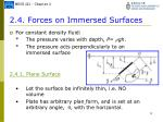2 4 forces on immersed surfaces
