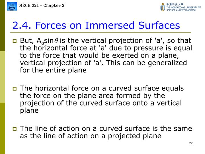 2.4. Forces on Immersed Surfaces