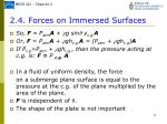 2 4 forces on immersed surfaces3
