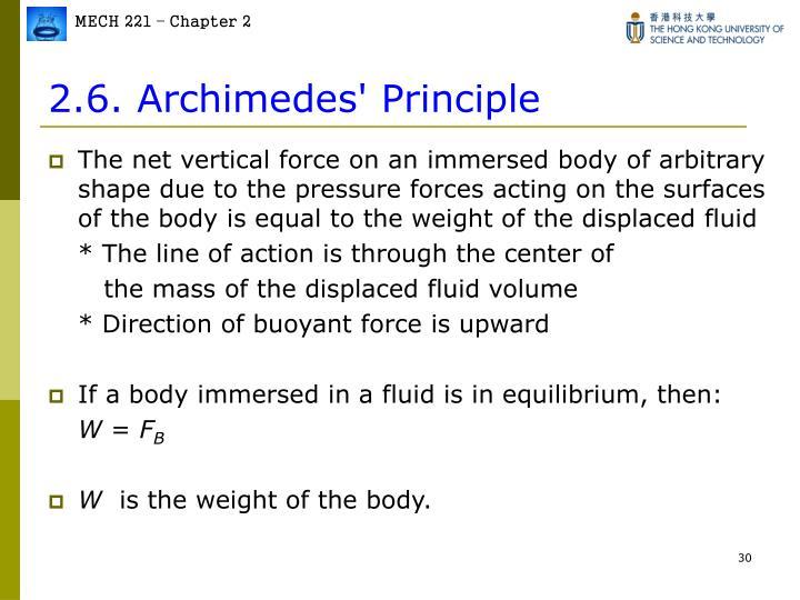 2.6. Archimedes' Principle