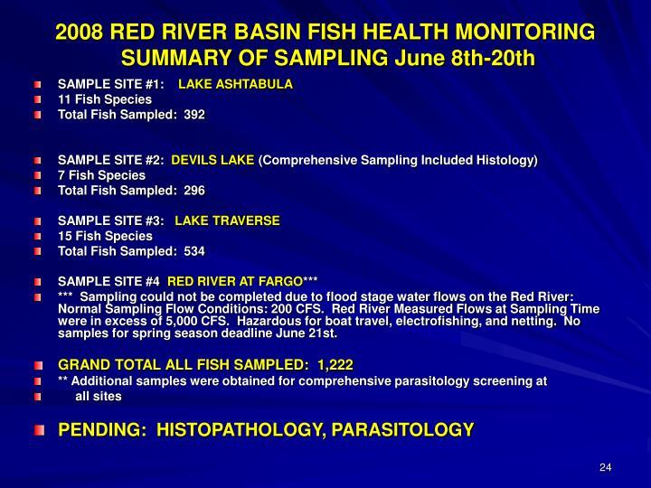 2008 RED RIVER BASIN FISH HEALTH MONITORING