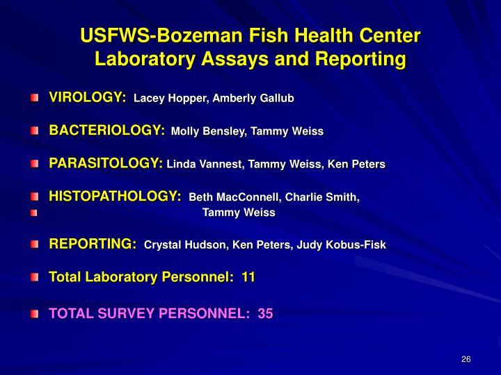 USFWS-Bozeman Fish Health Center
