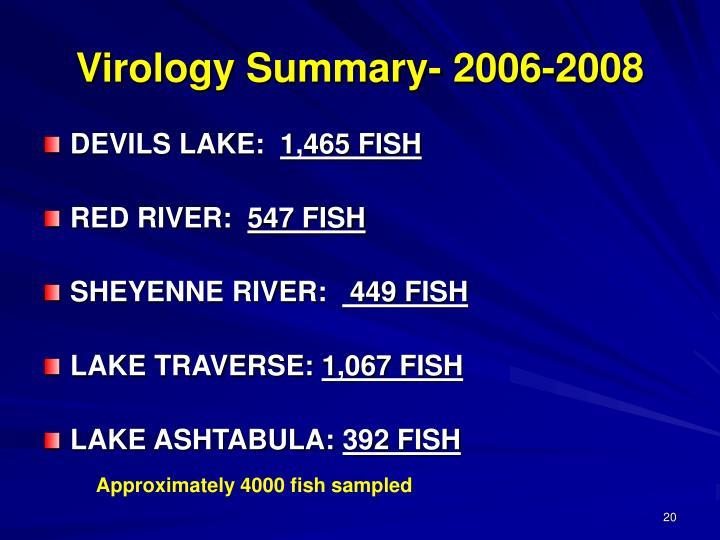 Virology Summary- 2006-2008