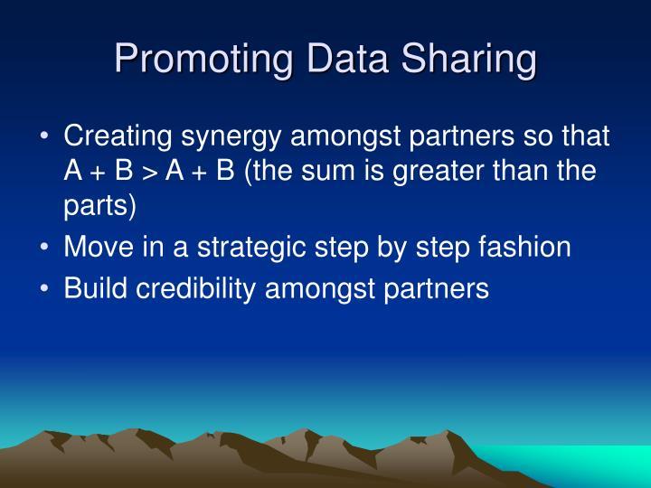 Promoting Data Sharing