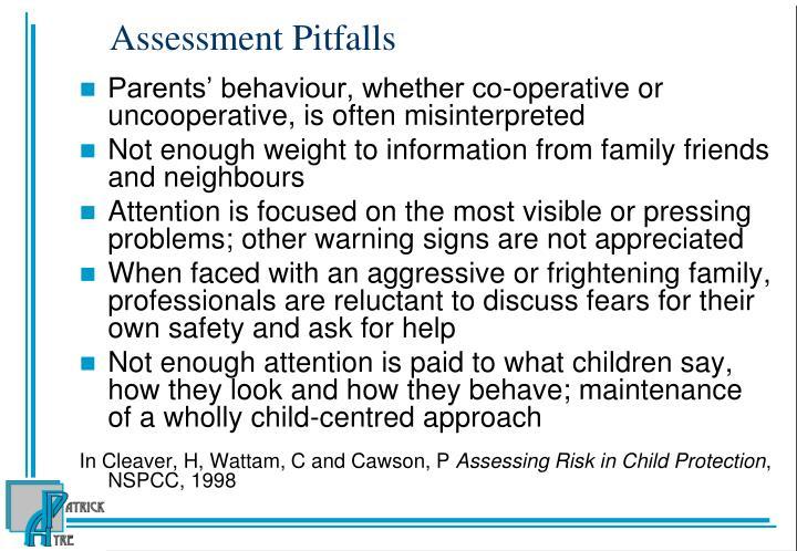 Assessment Pitfalls