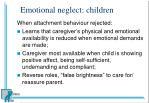 emotional neglect children