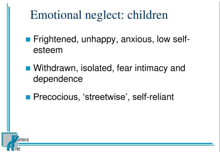 Emotional neglect: children