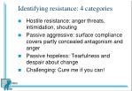 identifying resistance 4 categories
