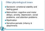 other physiological issues