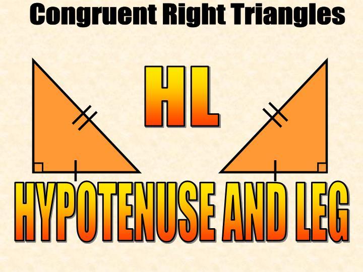 Congruent Right Triangles