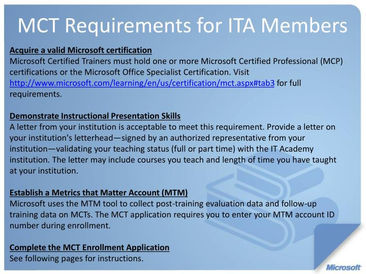 Acquire a valid Microsoft certification
