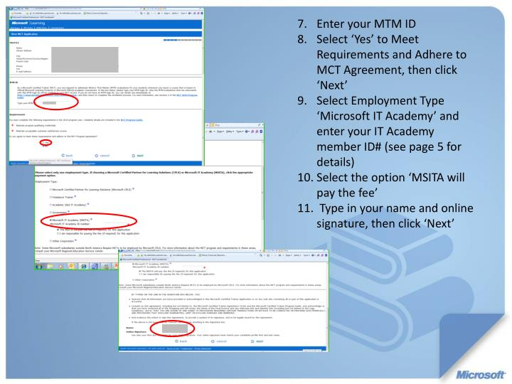 Enter your MTM ID