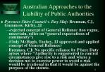 australian approaches to the liability of public authorities2