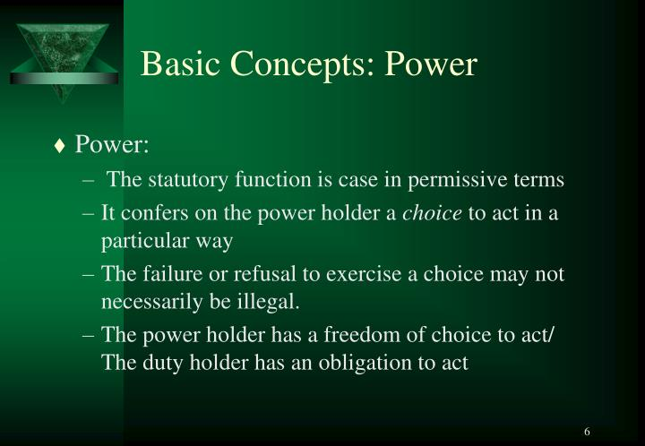 Basic Concepts: Power