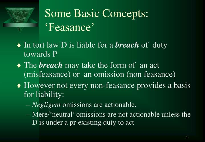 Some Basic Concepts: 'Feasance'