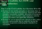 the civil liability act nsw and public authorities