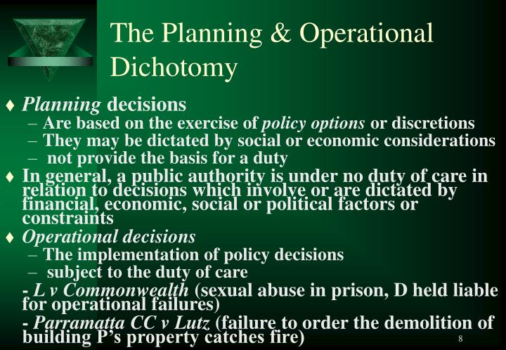 The Planning & Operational Dichotomy