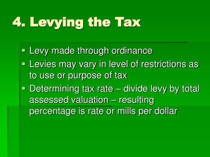 4. Levying the Tax