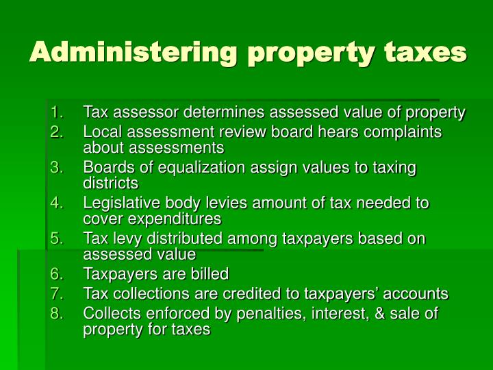 Administering property taxes