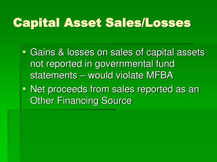 Capital Asset Sales/Losses