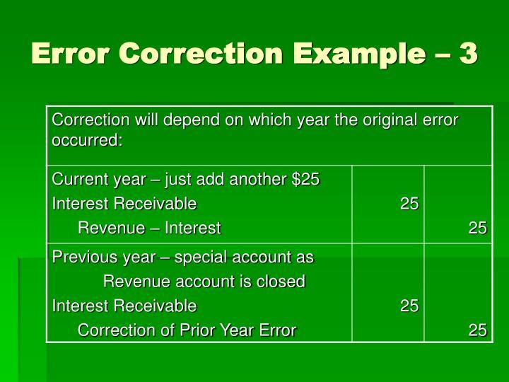 Error Correction Example – 3