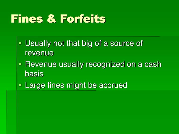 Fines & Forfeits