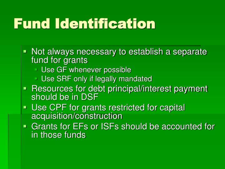 Fund Identification