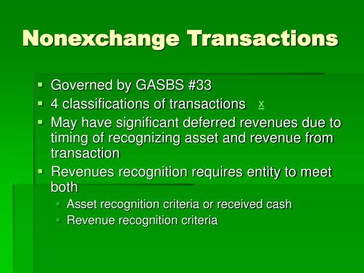 Nonexchange Transactions