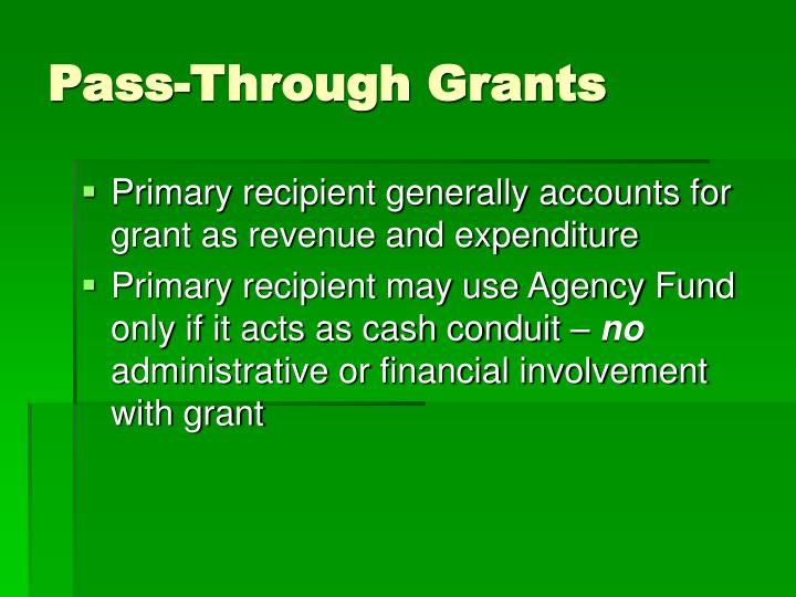 Pass-Through Grants