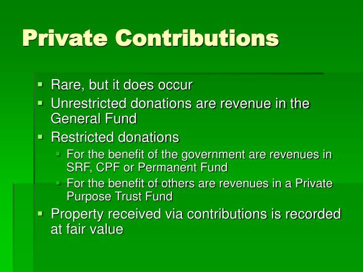 Private Contributions