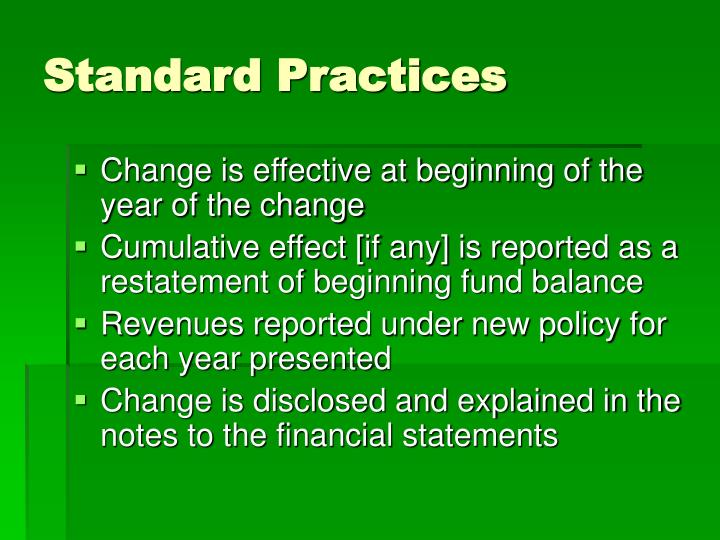 Standard Practices