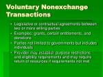 voluntary nonexchange transactions
