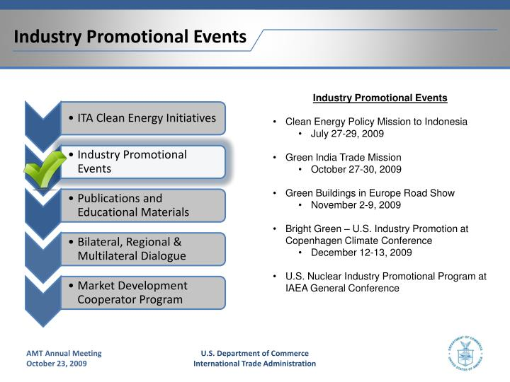 Industry Promotional Events