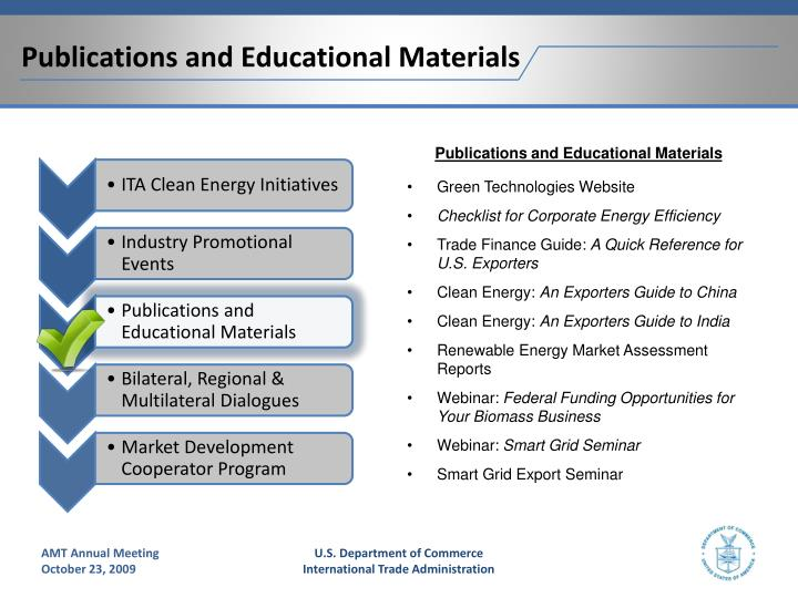 Publications and Educational Materials