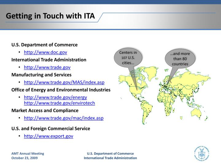 Getting in Touch with ITA