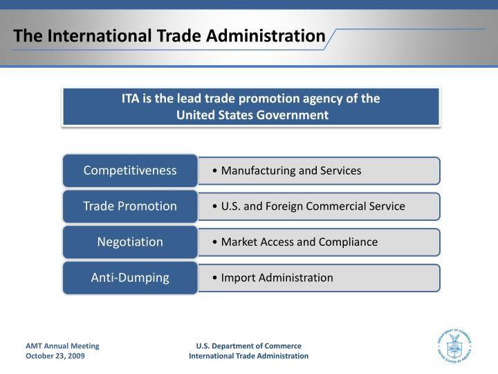 The International Trade Administration