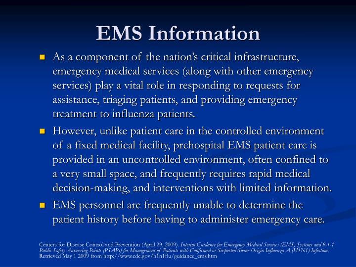 EMS Information