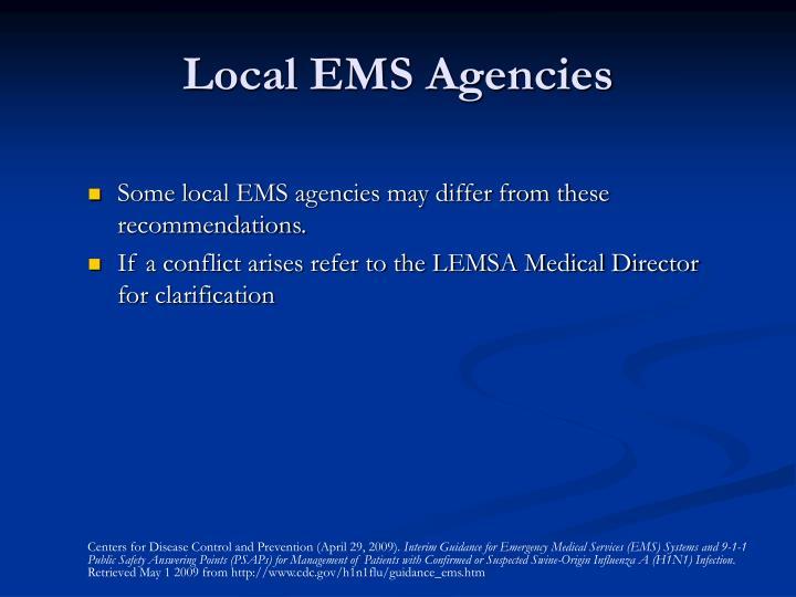 Local EMS Agencies
