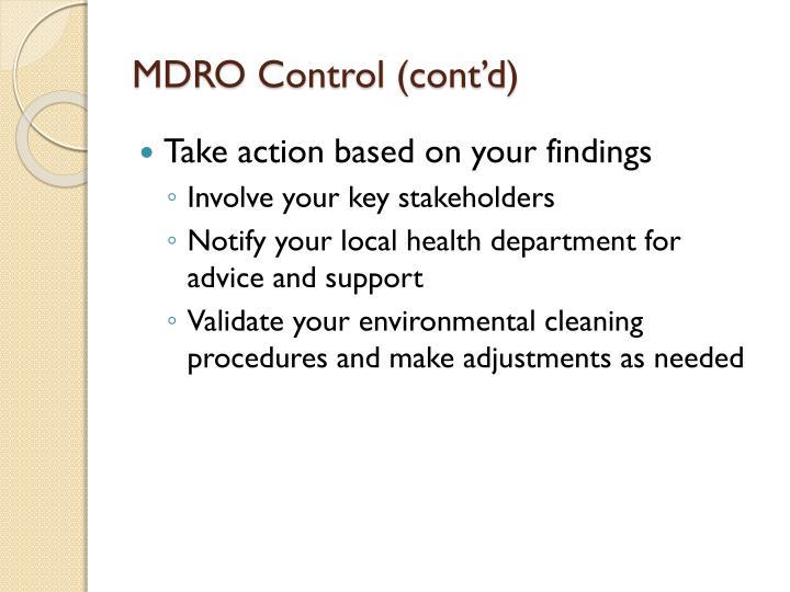 MDRO Control (cont'd)