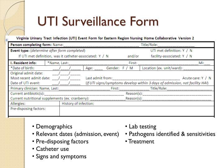 UTI Surveillance Form