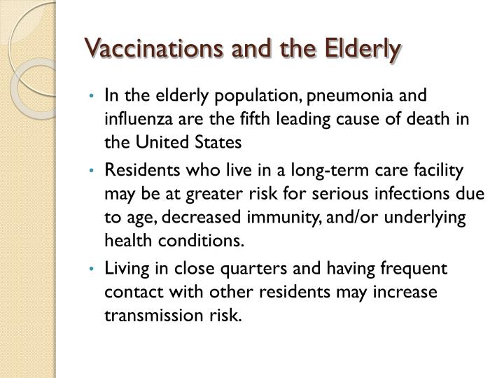 Vaccinations and the Elderly