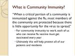 what is community immunity