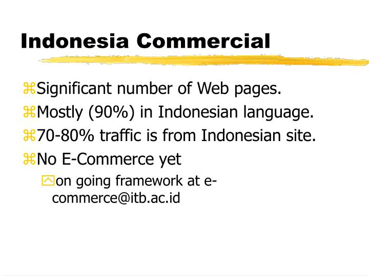 Indonesia Commercial